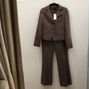 BCBGMaxAzria Jackets & Coats - Chocolate Wool Suit